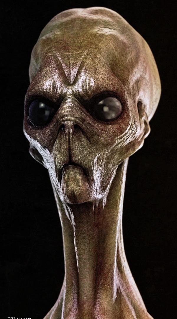 Страшные картинки инопланетян