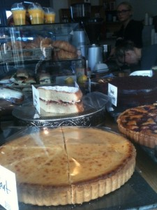 Lemon tart, croissants and other things.